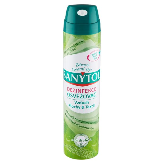 Sanytol Dezinfekce osvěžovač svěží mentholová vůně 300ml