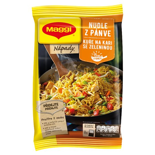 MAGGI Nápady Noodles Pan Cooking Chicken with Curry with Vegetables 185g