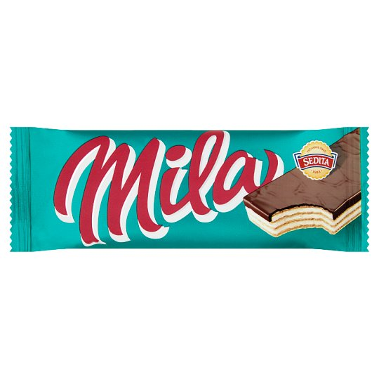Sedita Mila Crispy Wafers with Milk Cream Filling in Cocoa Coating 50g