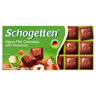 Schogetten Alpine Milk Chocolate with Hazelnuts 100g