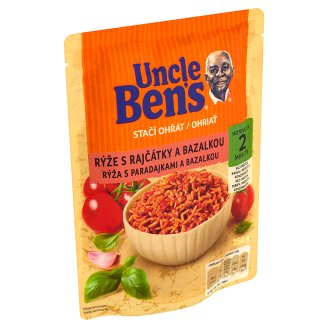 Uncle Ben's Ready to Heat Rice with Tomatoes and Basil 250g