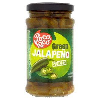 Poco Loco Zelené papričky Jalapeño plátky 220g