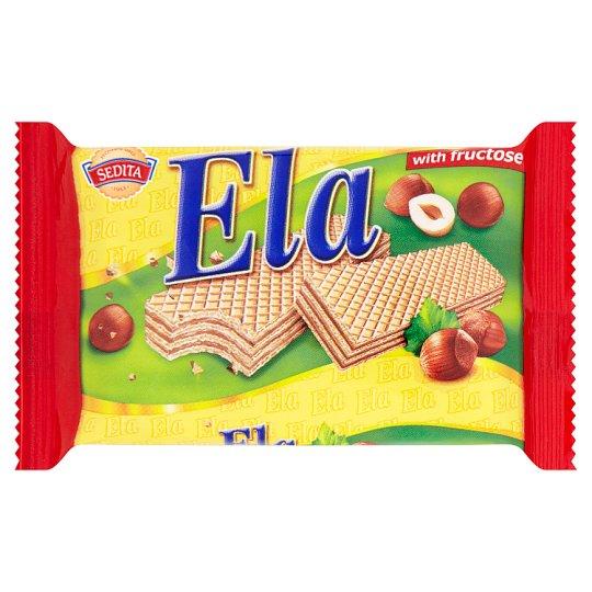 Sedita Ela Wafers with Hazelnut Filling and Fructose 40g