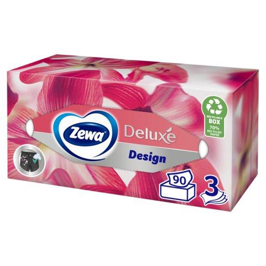 Zewa Deluxe Design Paper Handkerchiefs 3 Ply 90 pcs