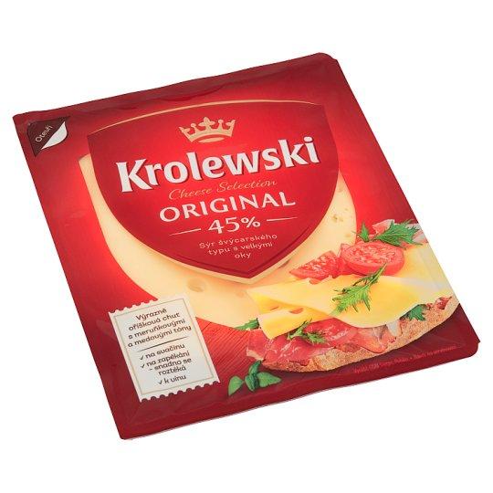 Krolewski Sýr 45% plátky 100g