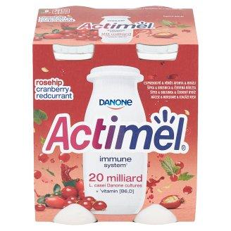 Danone Actimel Jogurtové mléko šípek & brusinka & červený rybíz 4 x 100g