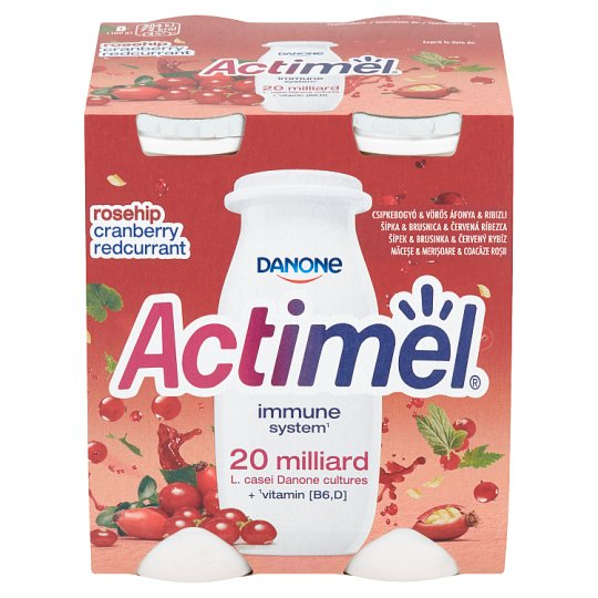Danone Actimel Yoghurt Milk Rosehip & Cranberry & Redcurrant 4 x 100g