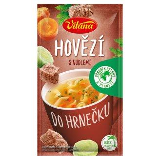 Vitana Do hrnečku Instant Beef Soup with Celestine Noodles 20g