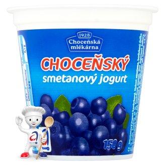Choceňská Mlékárna Choceňský smetanový jogurt borůvkový 150g