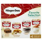 Häagen-Dasz Favorite Selection Ice Cream 4 x 100ml