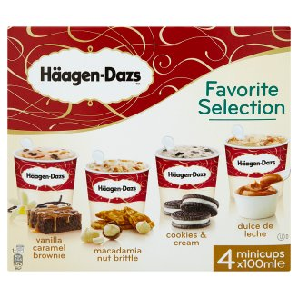 Häagen-Dasz Favorite selection zmrzlina 4 x 100ml