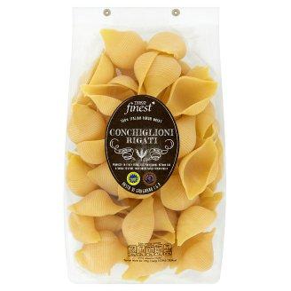 Tesco Finest Conchiglioni Rigati bezvaječné semolinové sušené těstoviny 500g