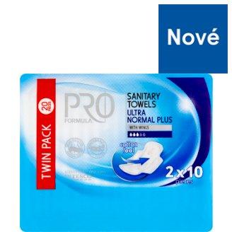 Tesco Pro Formula Normal Plus dámské hygienické vložky s křidélky 2 x 10 ks