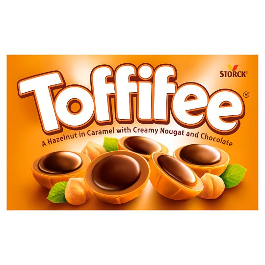 Storck Toffifee Celá jádra lískových ořechů v karamelu s lískooříškovým krémem a čokoládou 125g