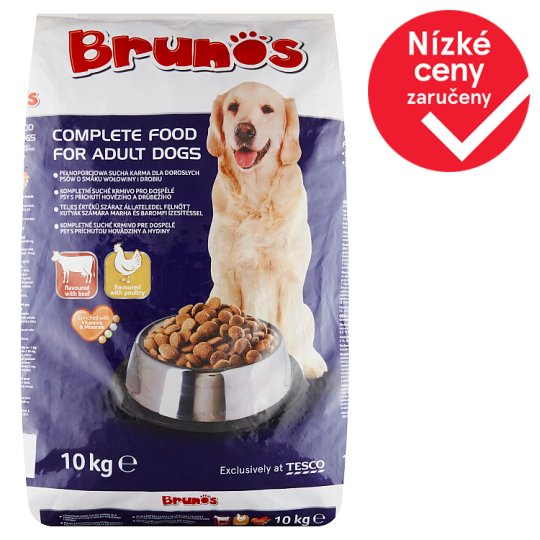 Brunos Dry Dog Food Flavoured with Beef and Poultry 10kg