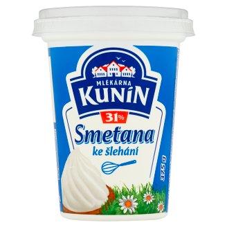 Mlékárna Kunín Smetana ke šlehání 31% 375g