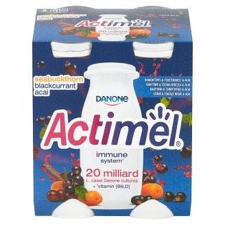 Danone Actimel Jogurtové mléko rakytník & černý rybíz & acai 4 x 100g