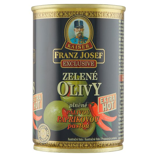 Kaiser Franz Josef Exclusive Green Olives Stuffed with Hot Pepper Paste 300g