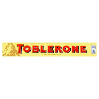 Toblerone Swiss Milk Chocolate with Honey & Almond Nougat 100g
