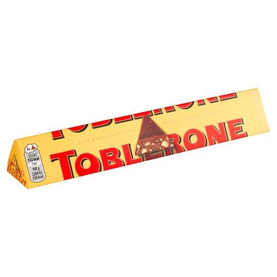 Toblerone Swiss Milk Chocolate with Honey & Almond Nougat 100g