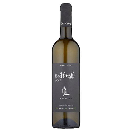 Víno Podivín Veltlínské zelené jakostní víno odrůdové suché 0,75l