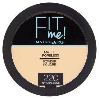 Maybelline New York Fit Me Matte + Poreless 220 Natural Beige pudr 14g