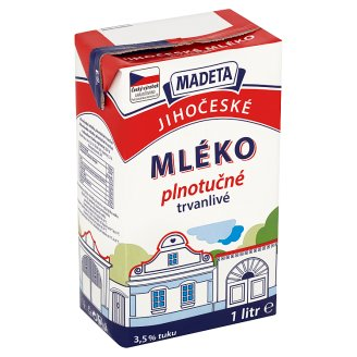 Madeta South Bohemian Long-Life Full-Fat Milk 1L