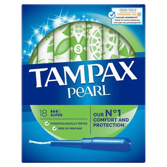 Tampax Pearl Super Tampony S Aplikátorem 18 ks