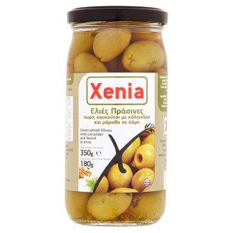 Xenia Zelené olivy bez pecky s koriandrem a fenyklem ve slaném nálevu 350g