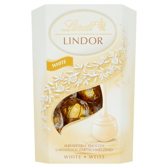 Lindt Lindor Chocolate Candy in White Chocolate with Soft Liquid Filling 200g