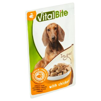 VitalBite Complete Food for Adult Dogs with Chicken in Gravy 85g