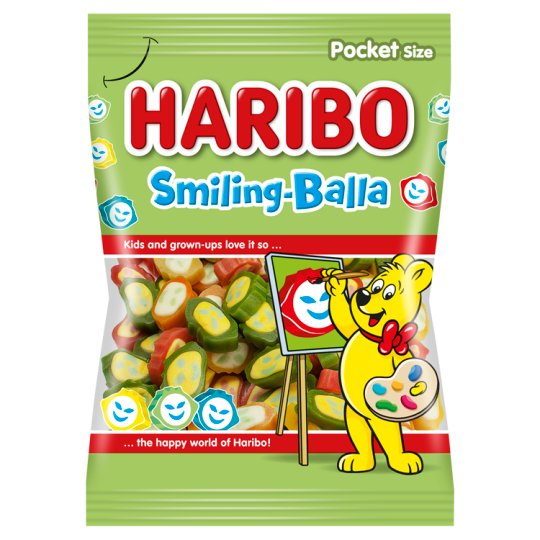 Haribo Smiling-Balla Fruit Flavoured Jelly 100g