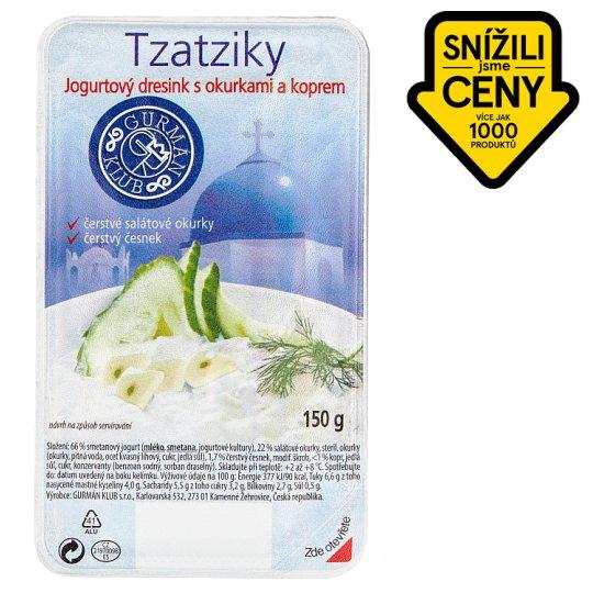 Gurmán Klub Řecké tzatziky jogurtový dresink s okurkami a koprem 150g