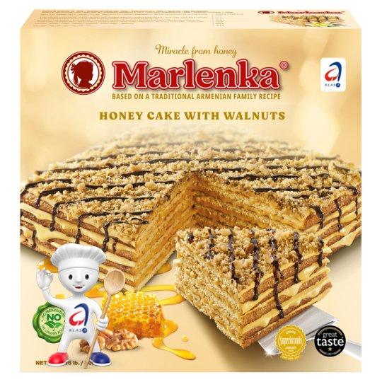 Marlenka Medový dort s vlašskými ořechy 800g