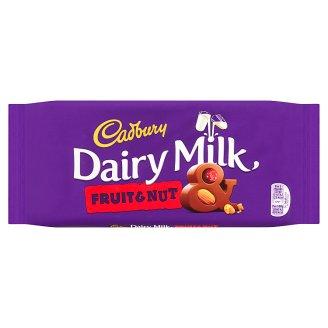 Cadbury Family mléčná čokoláda se sušeným hroznem a mandlemi 200g