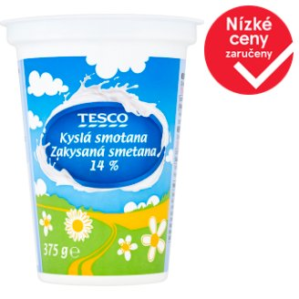 Tesco Sour Cream 14 % 375g