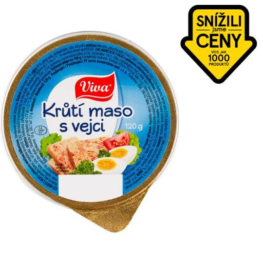 Viva Carne Krůtí maso s vejci 120g