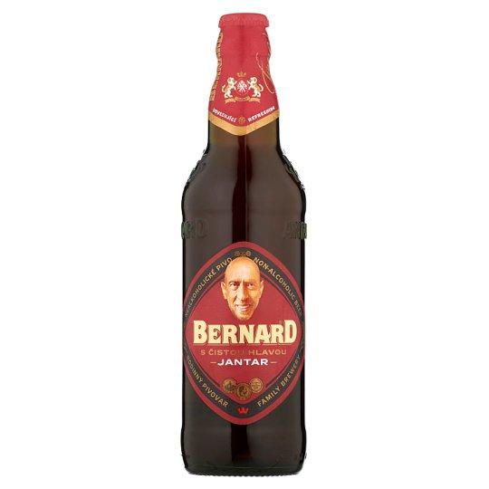 Bernard S čistou hlavou Jantar Non-Alcoholic Semi-Dark Beer 0.5L
