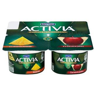Danone Activia Yogurt with Bifidoculture Pineapple/Red Apple 4 x 120g