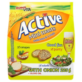 Bona Vita Active Mini toasty cibulové 225g