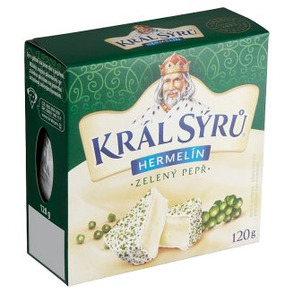 Král Sýrů Hermelín zelený pepř 120g