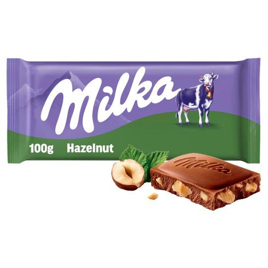Milka Broken Hazelnut 100g