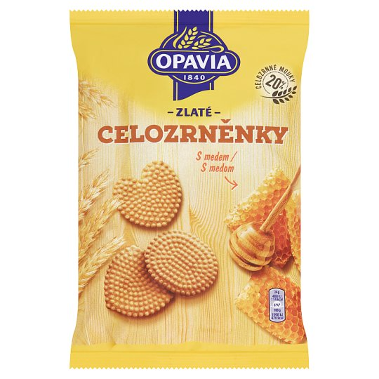 Opavia Zlaté Cookies with Honey 180g