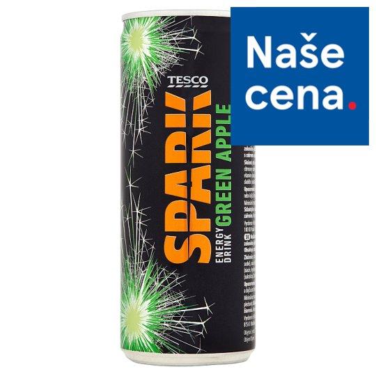 Tesco Spark Energy Drink Green Apple 250ml