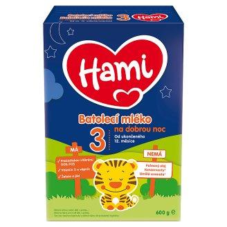 Hami 12+ batolecí mléko na dobrou noc od uk. 12. měsíce 600g