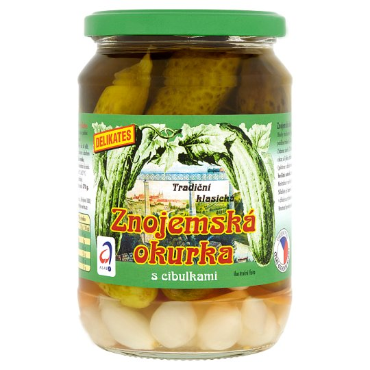 Znojmo Gherkins with Onions Delicates 660g