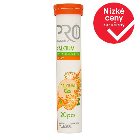 Tesco Pro Formula Calcium 20 tablet 80g
