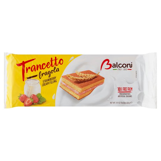 Balconi Trancetto Yogurt E Fragola with Yogurt-Strawberry Filling 10 x 28g