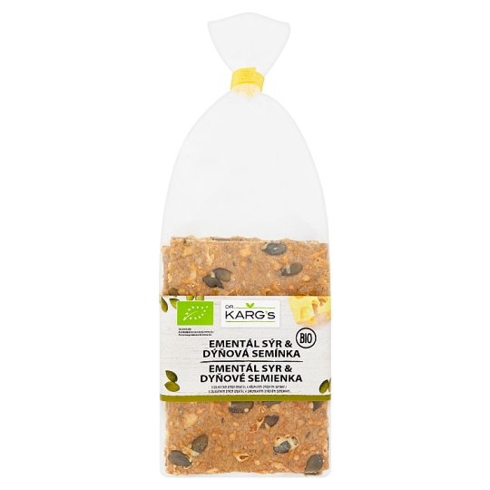Dr. Karg's Organic Wholegrain Slices with Emmental Cheese and Pumpkin Seeds 200g