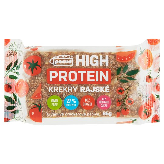 Pecud Hight Protein Crackers Tomato 65g
